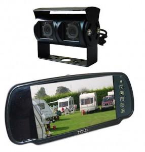 Wohnmobil und Wohnwagen Kamerasystem mit rückspiegel bildschirm und schwarze kamera
