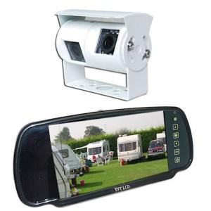 Wohnmobil und Wohnwagen Kamerasystem mit rückspiegel bildschirm und weiß-kamera