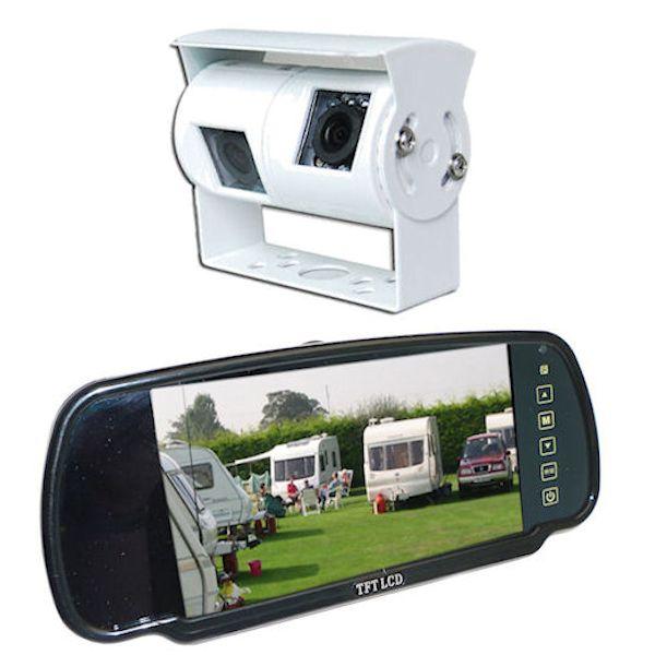 wohnmobil und wohnwagen kamerasystem mit r ckspiegel. Black Bedroom Furniture Sets. Home Design Ideas