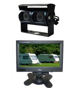 Wohnmobil und Wohnwagen Kamerasysteme mit amaturenbrett bildschirm und schwarze kamera