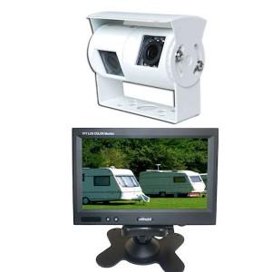 Wohnmobil und Wohnwagen Kamerasystem mit amaturenbrett bildschirm und weiß-kamera