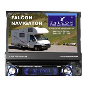 7″ 1-DIN In Dash Wohnmobil Sat Nav & FM, DVD, Bluetooth